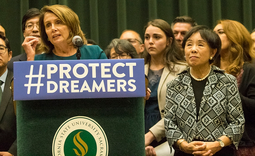 Pelosi, Matsui, local officials call for Dream Act passage at Sac Stateconference